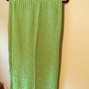 ASOS Lime green knitted midi skirt